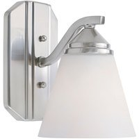 Designers Fountain - Piazza - Wall Sconce in Satin Platinum with Frosted White