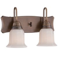 Designers Fountain - Astor - 2 Light Wall Sconce in Old Satin Brass with White Opal