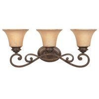 Designers Fountain - Mendocino - Interior Bath / Vanity / Wall Sconce in Forged Sienna with Warm Amber Glaze