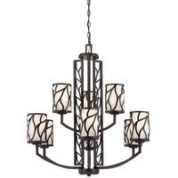 Designers Fountain - Modesto - 9 Light Chandelier in Artisan with White Opal