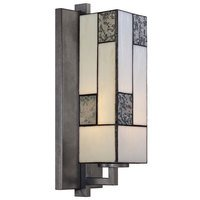 Designers Fountain - Bradley - Wall Sconce in Charcoal with Art Glass