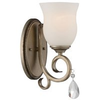 Designers Fountain - Gala - Wall Sconce in Argent Silver with Satin White