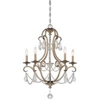 Designers Fountain - Gala - 5 Light Chandelier in Argent Silver with Satin White