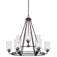 Designers Fountain - Gramercy Park - 9 Light Chandelier in Old English Bronze with Blown Hammered