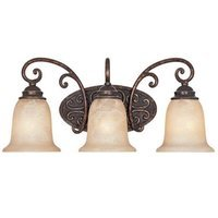 Designers Fountain - Amherst - Interior Bath / Vanity / Wall Sconce in Burnt Umber with Antique Harvest Beige