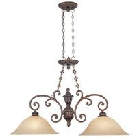 Designers Fountain - Amherst - Interior Island Pendant in Burnt Umber with Antique Harvest Beige