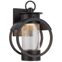 "Designers Fountain - Arbor - 7"" LED Wall Lantern in Burnished Bronze with Clear Seedy"