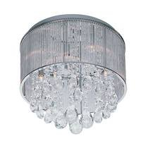 ET2 Lighting - Gala - Flush Mount in Polished Chrome with Clear Glass