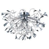 ET2 Lighting - Calypso - Flush Mount in Polished Chrome with Smoke Glass
