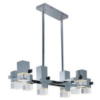 ET2 Lighting - Nova LED - 8 Light Pendant in Polished Chrome with Clear Acrylic Glass