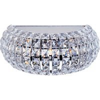 "ET2 Lighting - Bijou - 13"" 3-Light Wall Sconce in Polished Chrome with Crystal"