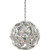 "ET2 Lighting - Fiori - 12"" 8-Light Pendant in Polished Chrome with Clear Murano"