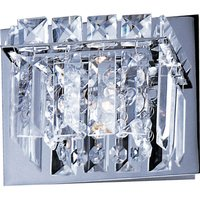 "ET2 Lighting - Bangle - 6 1/4"" 1-Light Wall Sconce in Polished Chrome with Crystal"