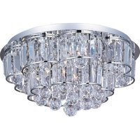 "ET2 Lighting - Bangle - 18"" 12-Light Flush Mount Fixture in Polished Chrome with Crystal"