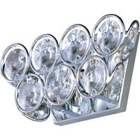 "ET2 Lighting - Brilliant - 10"" 2-Light Wall Scone in Polished Chrome with Crystal"