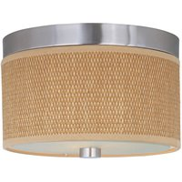 ET2 Lighting - Elements - Elements 2-Light Flush Mount in Satin Nickel