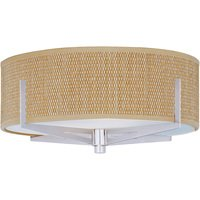 ET2 Lighting - Elements - Elements 3-Light Flush Mount in Satin Nickel