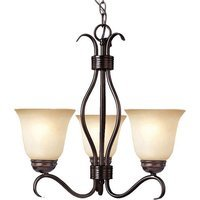 "Maxim Lighting - Basix - 19"" 3-Light Chandelier in Oil Rubbed Bronze with Wilshire Glass"