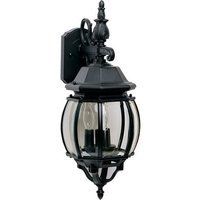 "Maxim Lighting - Crown Hill - 8"" 3-Light Outdoor Wall Lantern in Black"