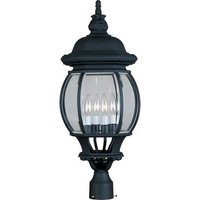 "Maxim Lighting - Crown Hill - 11"" 4-Light Outdoor Pole/Post Lantern in Black"