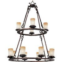 "Maxim Lighting - Notre Dame - 32"" 12-Light Chandelier in Oil Rubbed Bronze with Wilshire Glass"