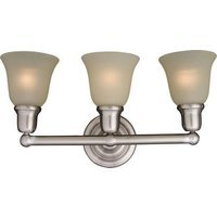 "Maxim Lighting - Bel Air - 22 1/2"" 3-Light Bath Vanity in Satin Nickel with Soft Vanilla Glass"