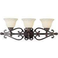 "Maxim Lighting - Manor - 29"" 3-Light Bath Vanity in Oil Rubbed Bronze with Frosted Ivory Glass"