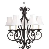 "Maxim Lighting - Manor - 26"" 5-Light Chandelier in Shades with Oil Rubbed Bronze"