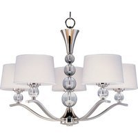 "Maxim Lighting - Rondo - 31"" 5-Light Chandelier in Polished Nickel"