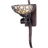 "Maxim Lighting - Meridian - 8"" 1-Light Wall Sconce in Umber Bronze with Dusty White Glass"