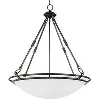 "Maxim Lighting - Stratus - 24 1/2"" 5-Light Invert Bowl Pendant in Bronze with Marble Glass"