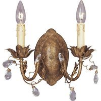 "Maxim Lighting - Elegante - 12"" 2-Light Wall Sconce in Etruscan Gold"
