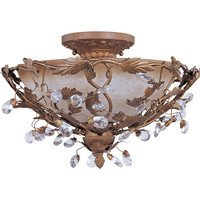 "Maxim Lighting - Elegante - 16 1/2"" 3-Light Semi-Flush Mount in Etruscan Gold"