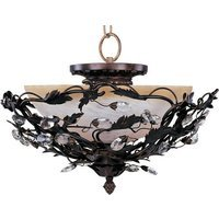 "Maxim Lighting - Elegante - 16 1/2"" 3-Light Semi-Flush Mount in Oil Rubbed Bronze"