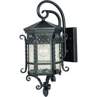 "Maxim Lighting - Scottsdale - 9 1/2"" 1-Light Outdoor Wall Lantern in Country Forge with Seedy Glass"