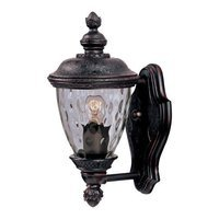 "Maxim Lighting - Carriage House DC - 6"" 1-Light Outdoor Wall Lantern in Oriental Bronze with Water Glass"