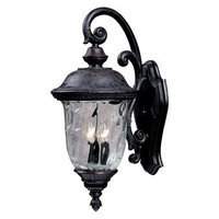 "Maxim Lighting - Carriage House DC - 9"" 2-Light Outdoor Wall Lantern in Oriental Bronze with Water Glass"