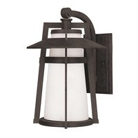 Maxim Lighting - Calistoga - Outdoor Wall Lantern in Adobe with Satin White Glass