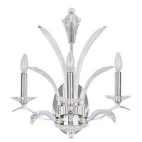 "Maxim Lighting - Paradise - 18"" 3-Light Wall Sconce in Plated Silver with Beveled Crystal Glass"