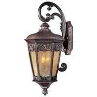 "Maxim Lighting - Lexington VX - 13 1/2"" 3-Light Outdoor Wall Lantern in Colonial Umber with Night Shade Glass"