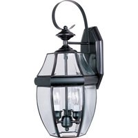 "Maxim Lighting - South Park - 9 1/2"" 3-Light Outdoor Wall Lantern in Burnished with Clear Glass"