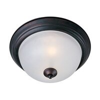 Maxim Lighting - Essentials - 584x - Essentials 2-Light Flush Mount in Oil Rubbed Bronze with Marble Glass