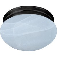 Maxim Lighting - Essentials - 588x - Essentials 1-Light Flush Mount in Oil Rubbed Bronze