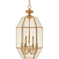 "Maxim Lighting - Bound Glass - 16 1/2"" 9-Light Entry Foyer Pendant in Polished Brass with Clear Glass"
