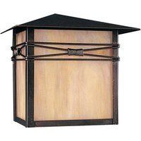 "Maxim Lighting - Taliesin - 10"" 1-Light Outdoor Wall Lantern in Burnished with Iridescent Glass"