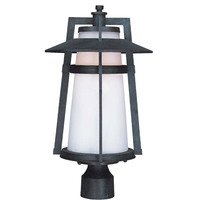 Maxim Lighting - Calistoga EE - Energy Efficient Outdoor Pole/Post Lantern in Adobe with Satin White Glass