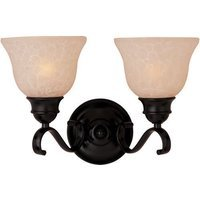 "Maxim Lighting - Linda Energy Star - 14 1/2"" Energy Star 2-Light Bath Vanity in Oil Rubbed Bronze with Wilshire Glass"