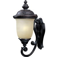 "Maxim Lighting - Carriage House Energy Star - 12 1/2"" Energy Star 1-Light Outdoor Wall Lantern in Oriental Bronze with Mocha Glass"