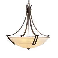 "PLC Lighting - Classic - Highland 25"" in Oil Rubbed Bronze with Marbleized Glass"