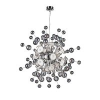 PLC Lighting - Contemporary Chandeliers - Chandelier in Polished Chrome with Clear & White Glass